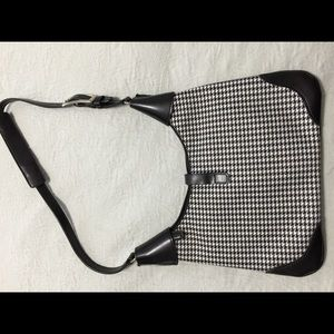 Kate Spade black & white houndstooth purse